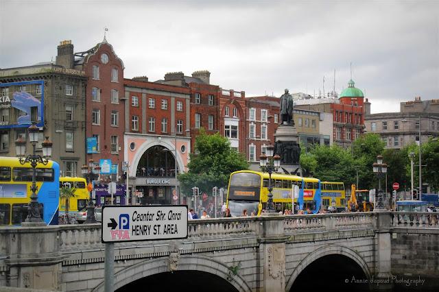 Busy Dublin streets