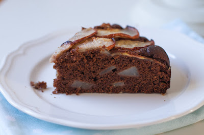 torta di pere e cioccolato allo zenzero (vegan)