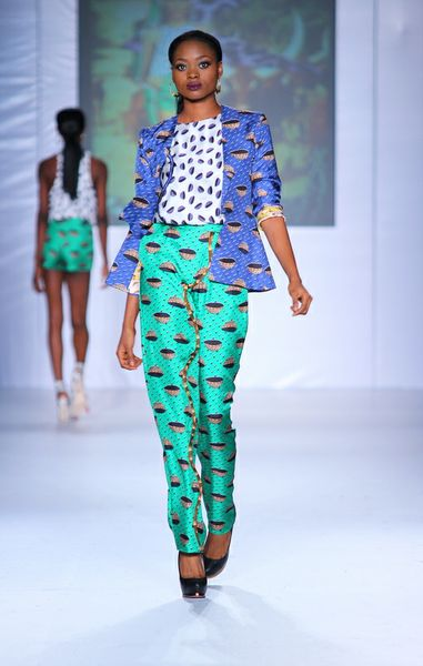 MTN Lagos Fashion and deisgn week: Jewel by lisa printed suit