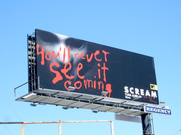 Scream TV series premiere billboard