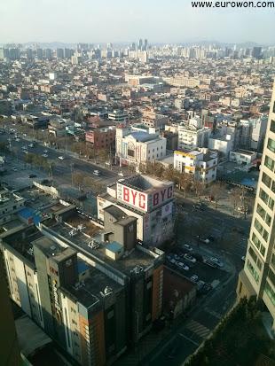 Vista de Daegu sin nieve