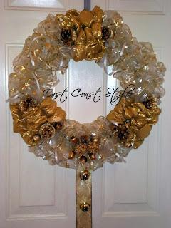 ribbon door wreath