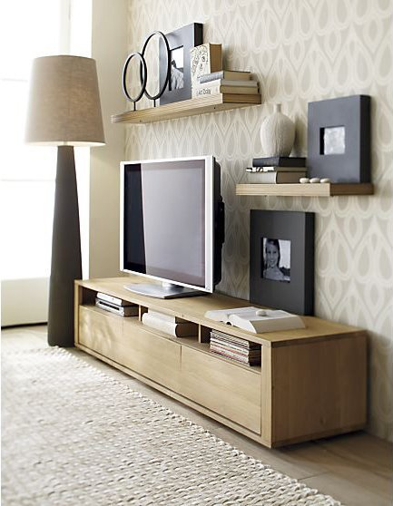 Decor On Wall Behind Tv : Tips for decorating around the tv from thrifty decor chick