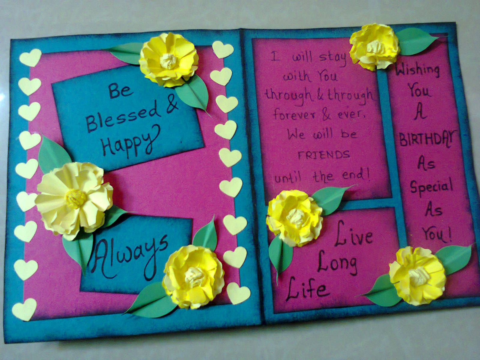 Linas handmade cards simple birthday card thanks for visiting bookmarktalkfo Gallery
