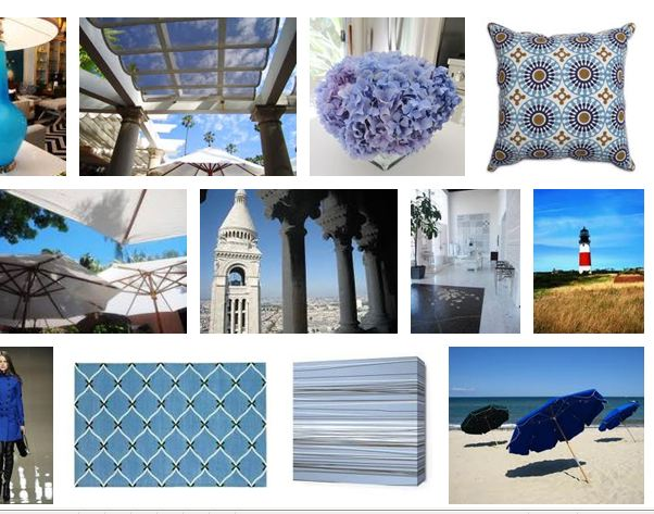 Nbaynadamas summer style board with a focus on shades of blue
