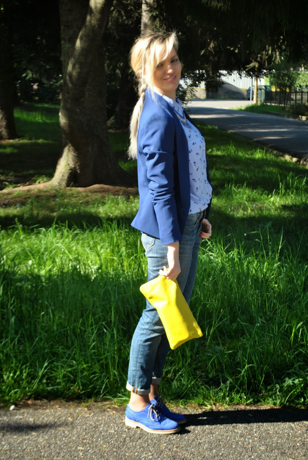 abbinamento giallo blu mariafelicia magno fashion blogger outfit blu outfit giacca blu outfit camicia stampa ciliegie camicia pull&bears outfit stringate maschili mariafelicia magno colorblock by felym mariafelicia magno fashion blogger outfit giacca blu come abbinare il blu outfit borsa gialla outfit scarpe blu come abbinare il giallo abbinamenti giallo blu abbinamenti blu outfit aprile 2015 outfit  outfit primaverili casual outfit donna primaverili outfit casual donna spring outfits outfit blue how to wear blue blue blazer yellow bag fashion bloggers italy girl blonde hair blonde girls braids collana pietre blu majique fornarina massimiliano incas