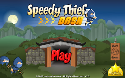 Speedy Thief Dash Title Screen