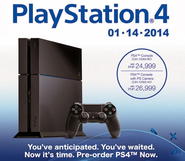Sony PS4 available for pre-order in Philippines
