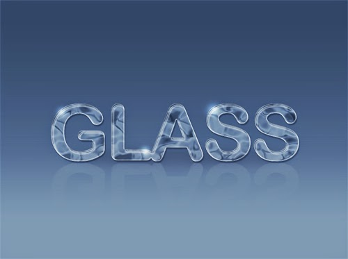 Create Glass Text Effect In Photoshop