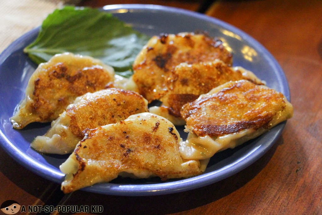 The greasy Japanese dumplings, Gyoza, of Chaya Restaurant