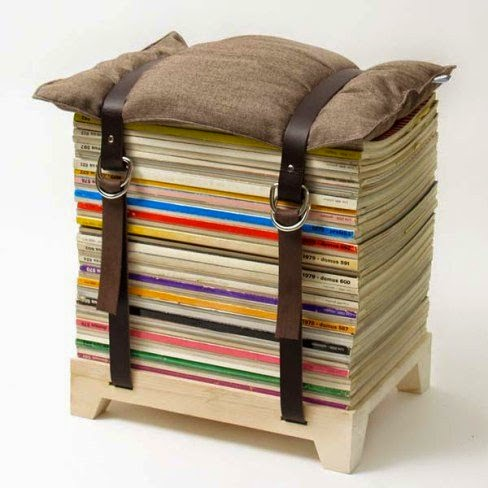 Como hacer un taburete con revistas o periodico ingeniando for Cuartos de ninas feos