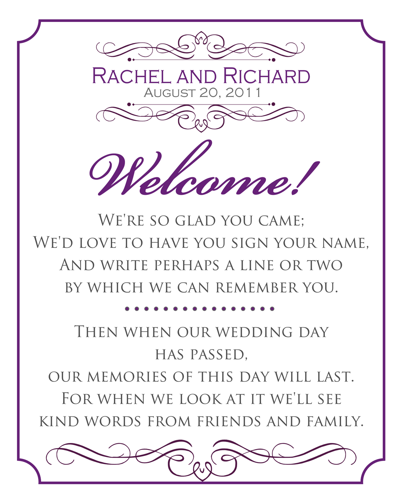 Bathroom Guest Book Signatures By Sarah Wedding Signs For Rachel