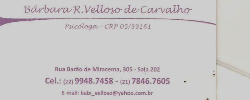 Psicóloga - Bárbara R. Velloso de Carvalho