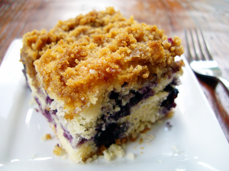 fresh blueberry coconut coffee cake | Sweet Anna's