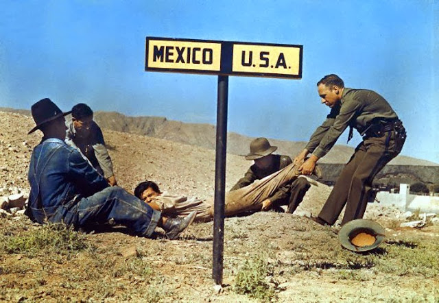 Two border patrol officers attempt to keep a fugitive in the us 1920s