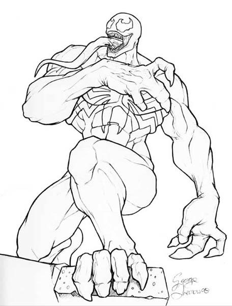 Desenhos Para Colorir Online Desenhos Para Imprimir Venom Coloring Pages