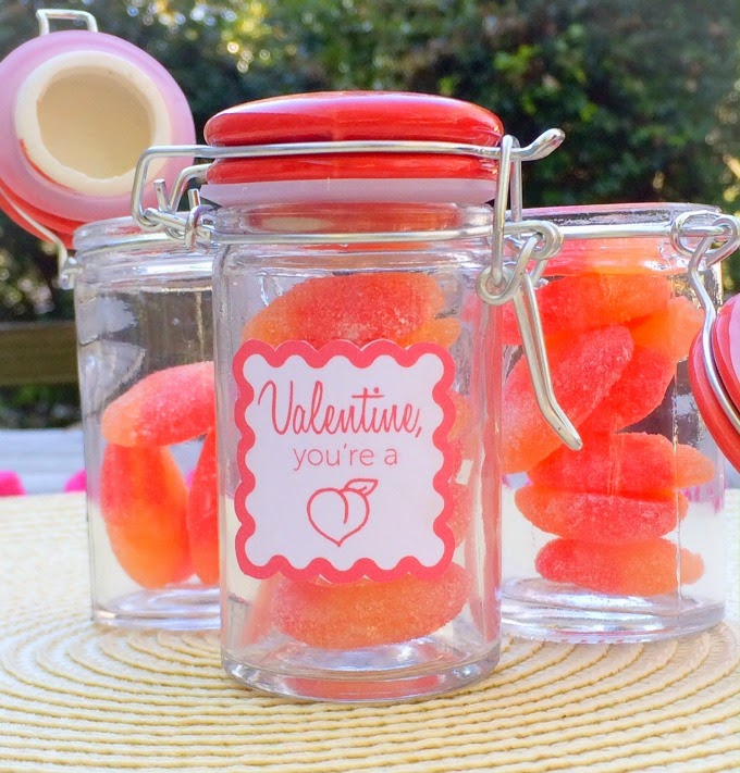 DIY You're a Peach Valentine's Day Favors