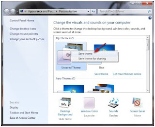 membuat slide show themes windows 7