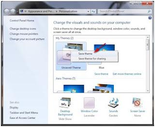 sudah mengerti kan Cara membuat slide show themes windows 7 dengan