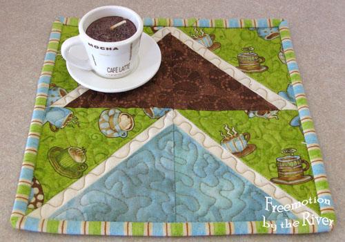 Coffee mug rug