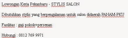 Lowongan Kerja Riau - STYLIS SALON