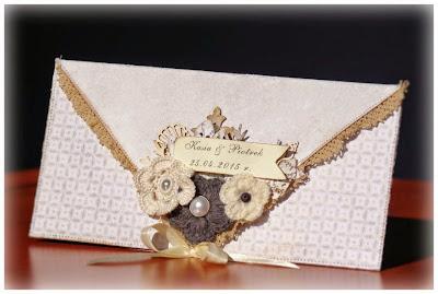 elegancka kartka kopertówka ślubna na zamówienie galeria schaffar