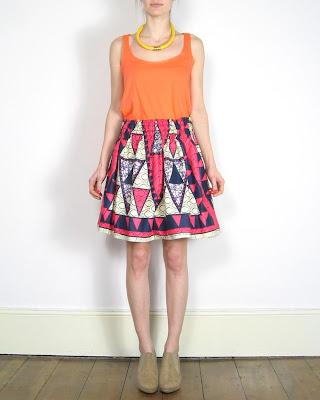 Fair + true print skirt