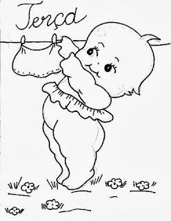 desenho semaninha do bebe para pintar terça feira