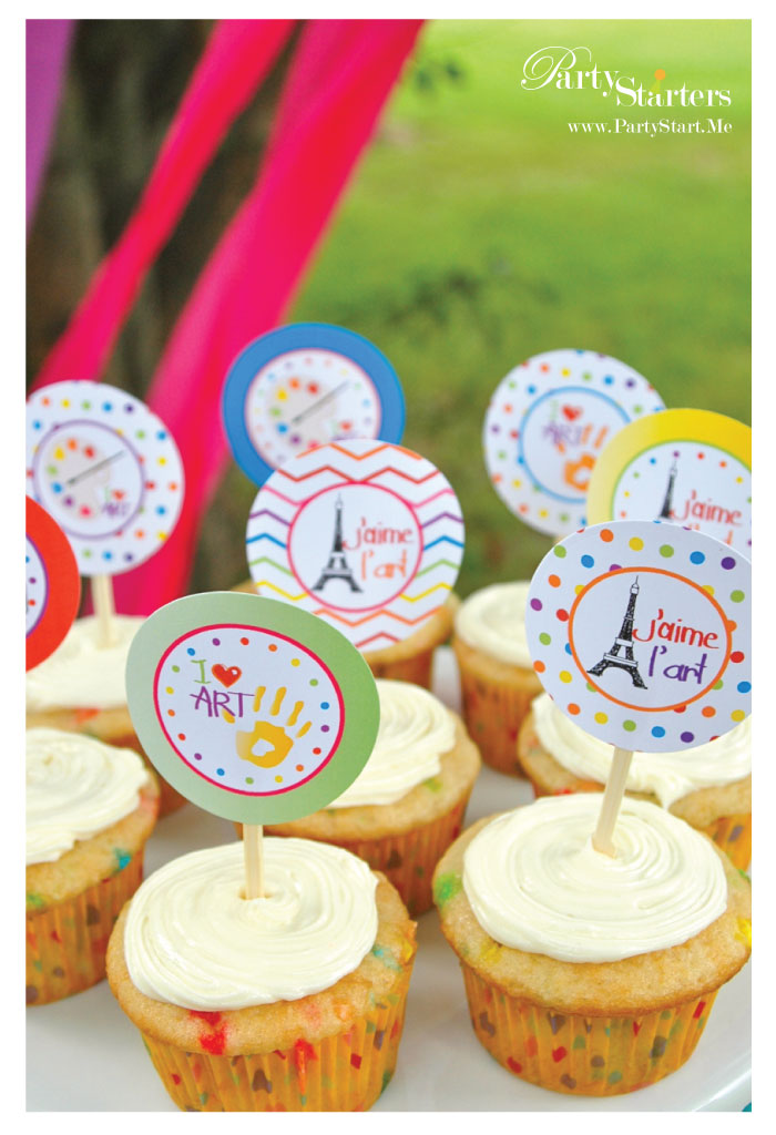Art Party Cupcakes Party Starters Quot i Love Art Quot