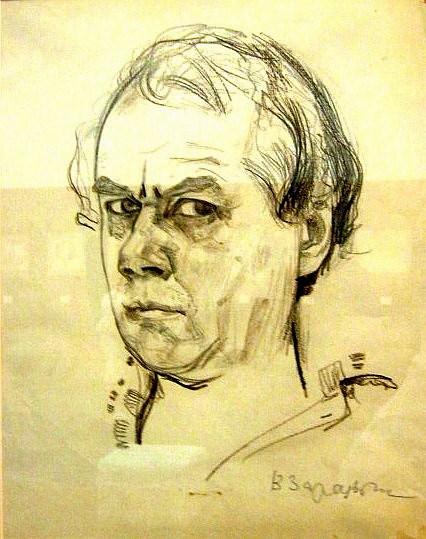 Виктор Зарецкий, Автопортрет, 1980