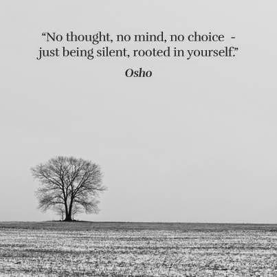 No thought, no mind, no choice — just being silent, rooted in yourself