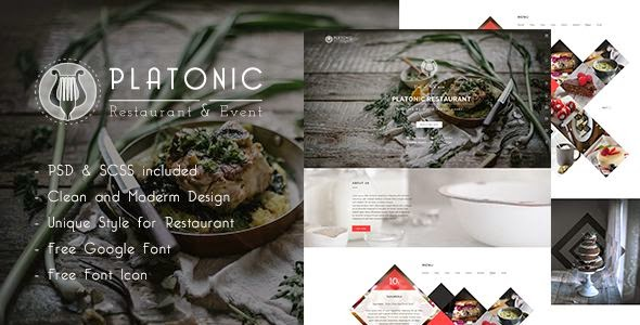 Platonic | Restaurant HTML5 Template