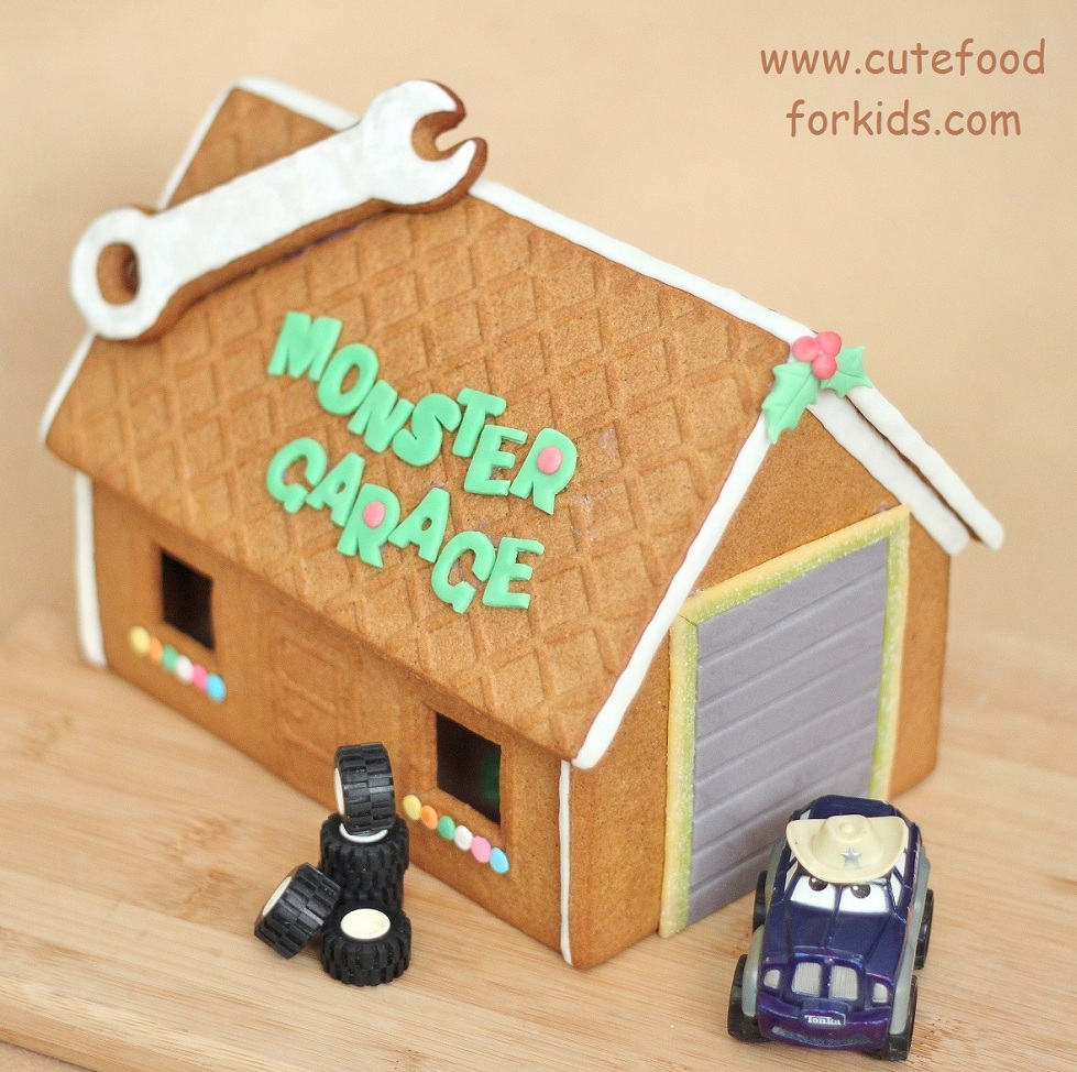 Cute food for kids?: ikea gingerbread house kit: monster garage