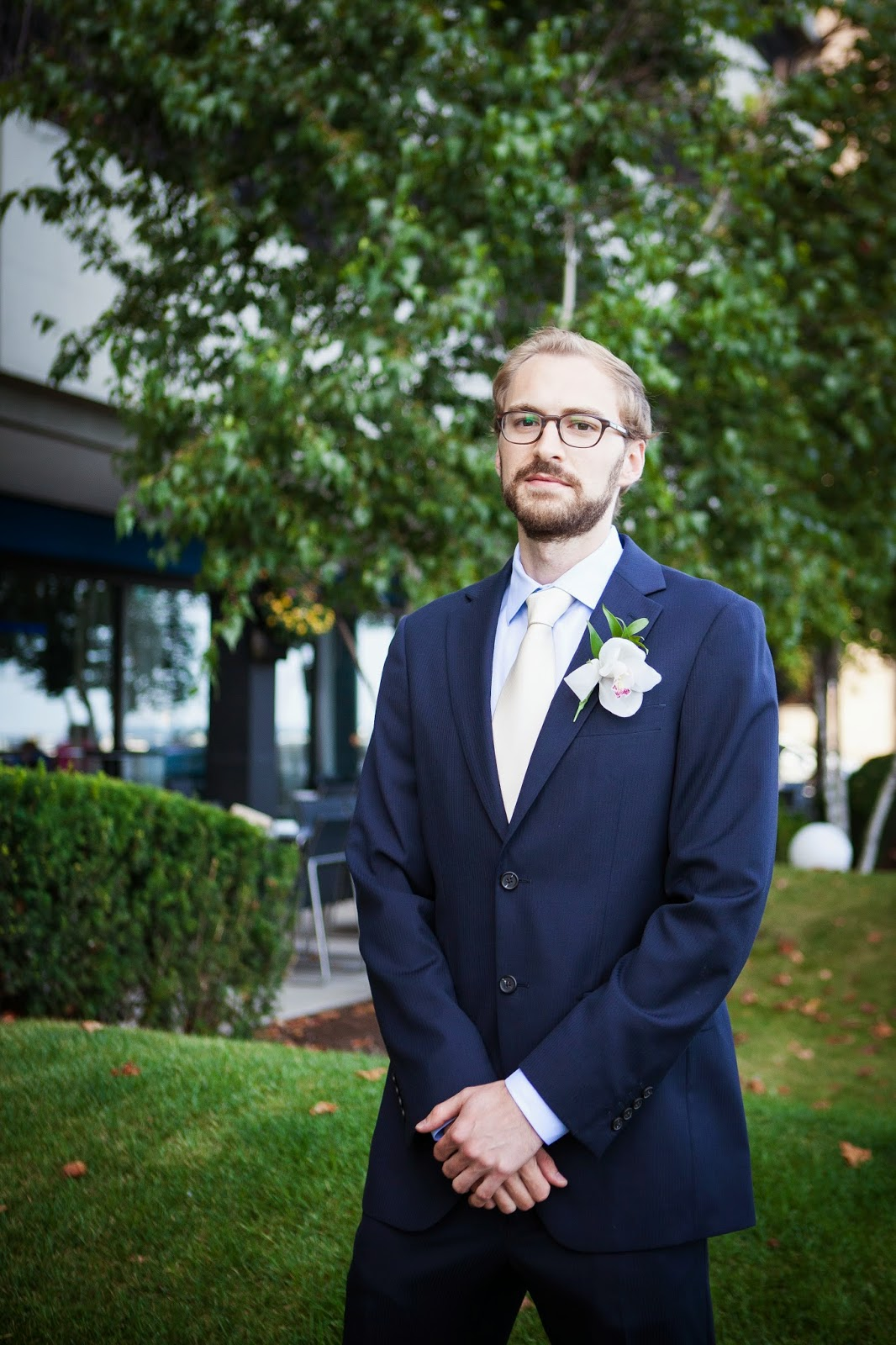 blue groomsmen suit