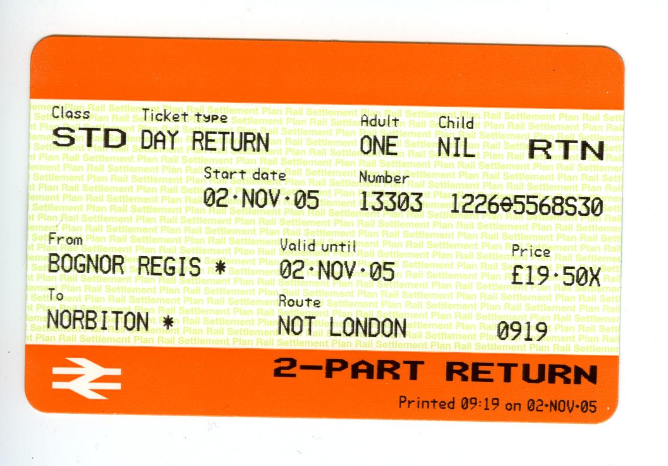4 adults rail tickets