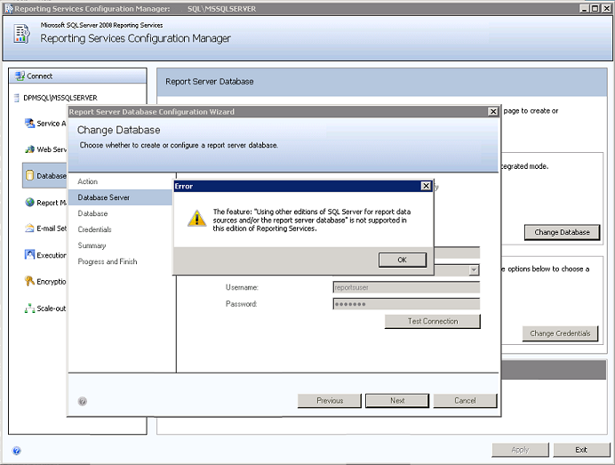 report-services-configuration-manager-the-using-other-editions-of-sql-for-report-data-sources-is-not-supported