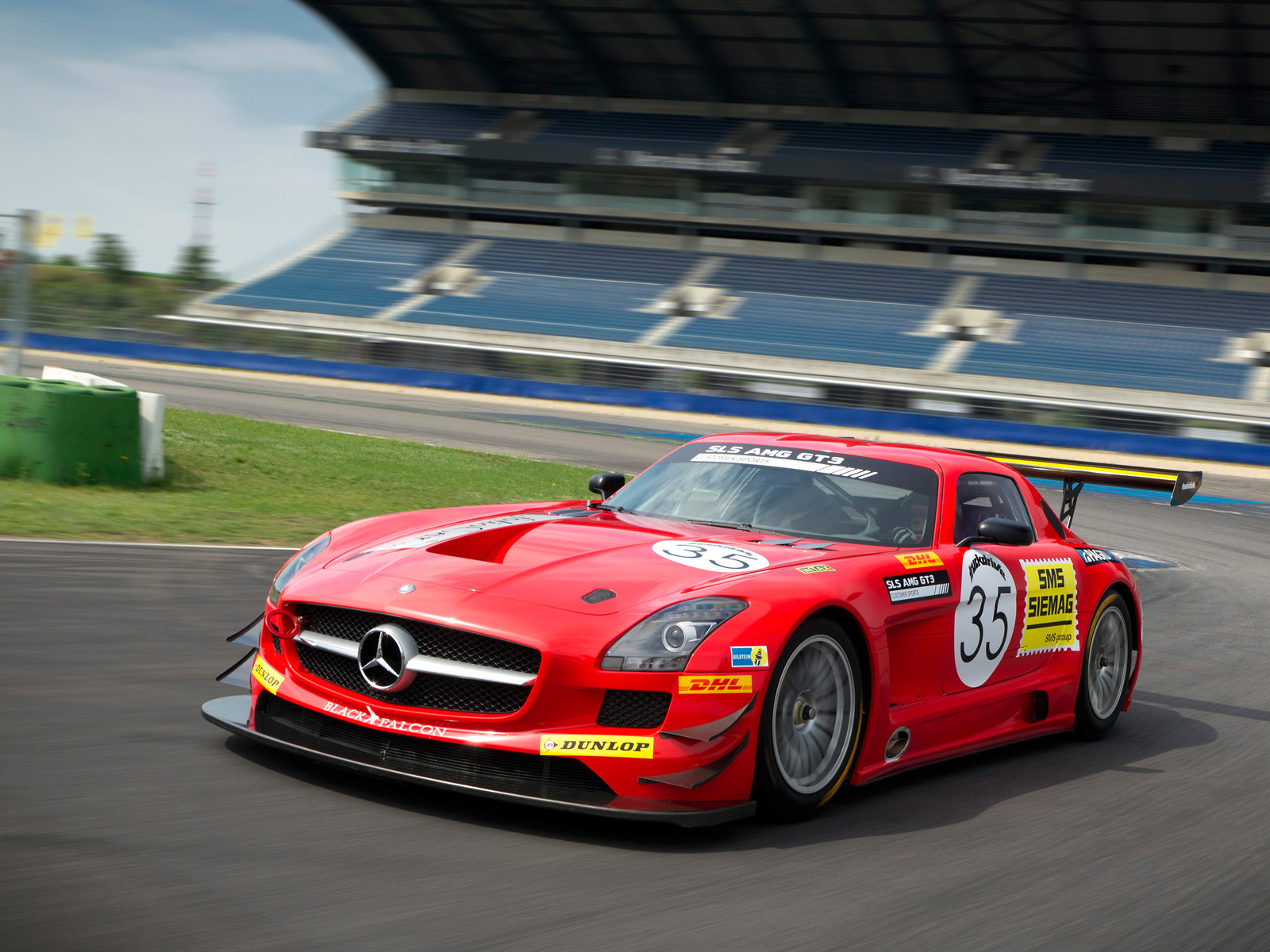 2012 mercedes benz sls amg gt3 black falcon 2012 sports cars for Mercedes benz gt3