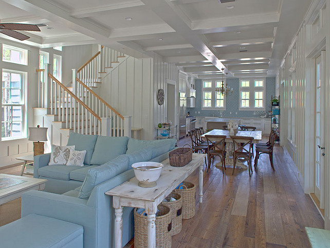 New home interior design coastal home with turquoise for Beach home interiors