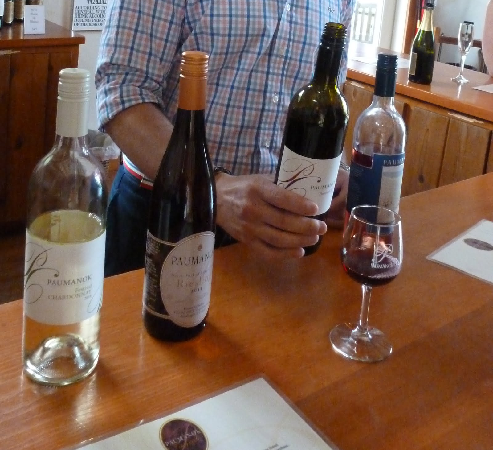 Georgi, the sommelier, suggests wines to his guests.