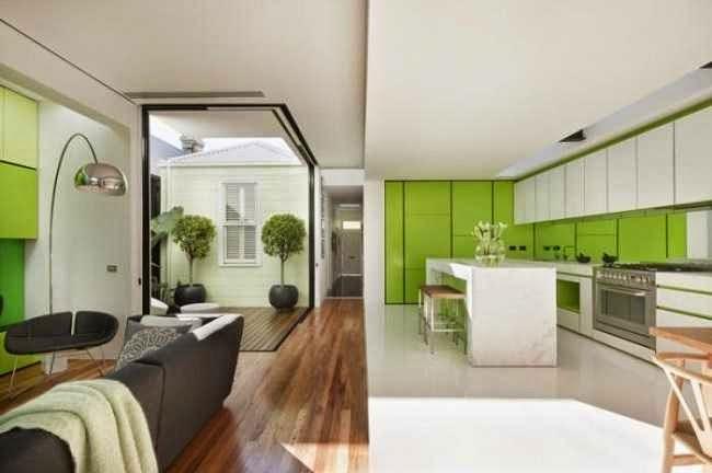 Idei amenajare bucatarie cu living open space
