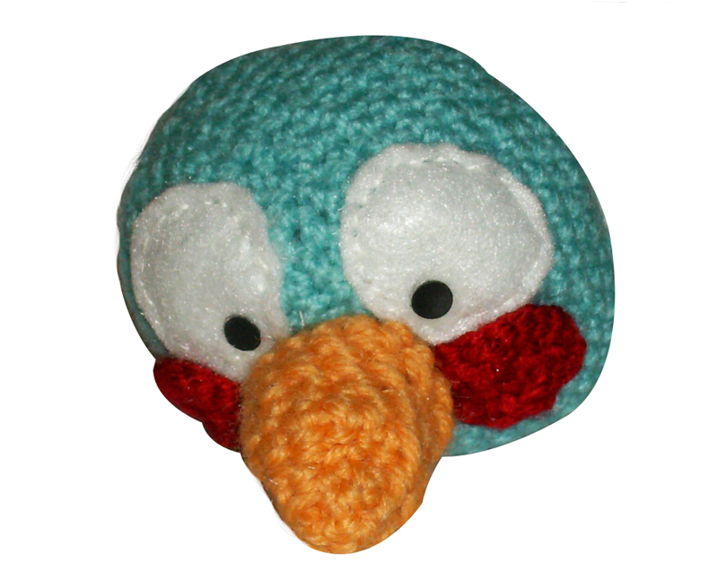 Your Funny Blog: Amigurumi Angry Bird Oiseau bleu