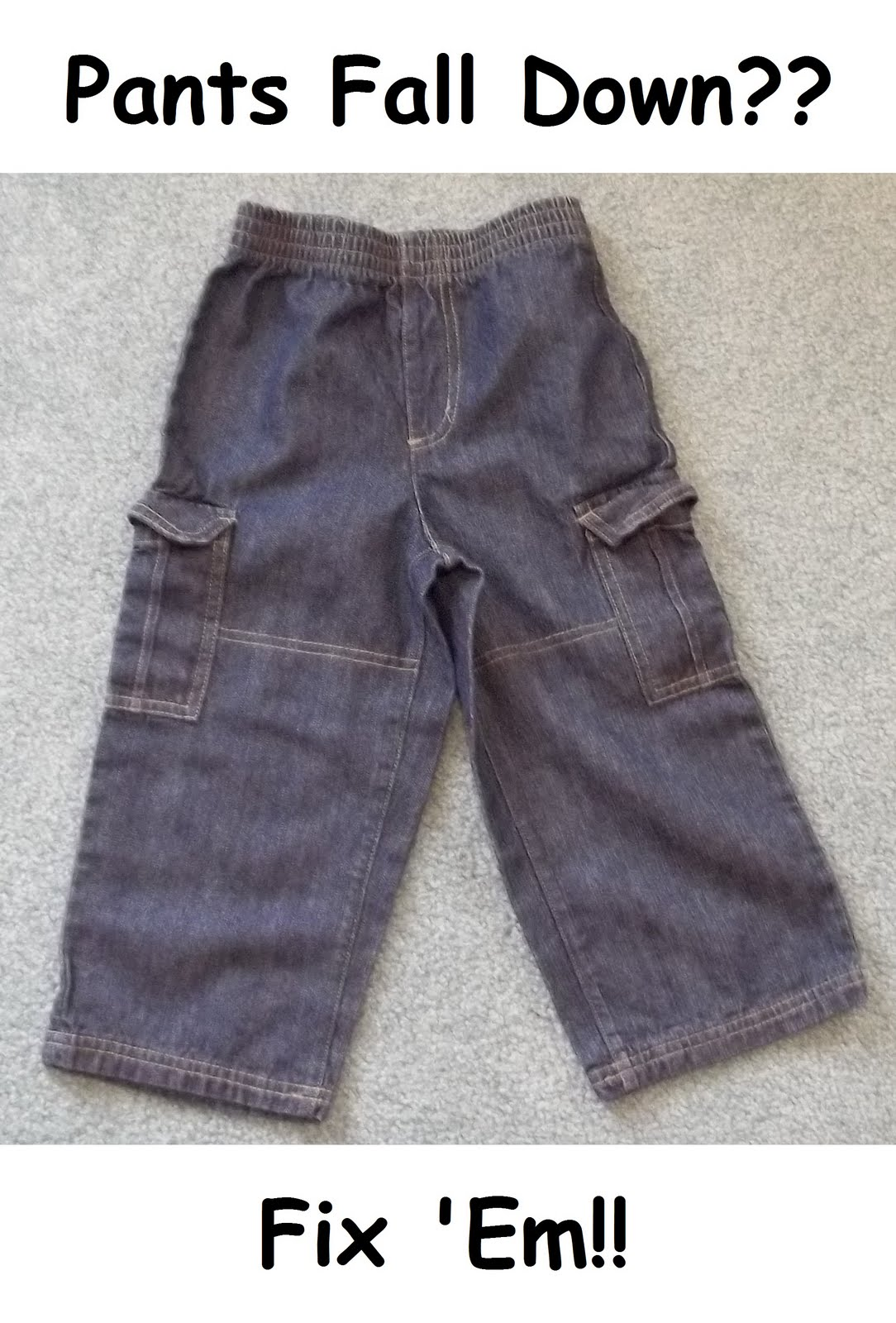 EZ Fix for Toddler/Kid Pants