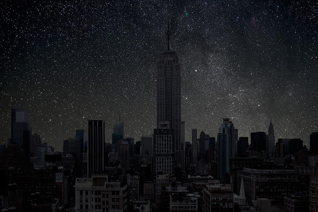 Las ciudades del mundo sin contaminación lumínica Thierry-cohen-city-after-dark-new-york-empire-state-building