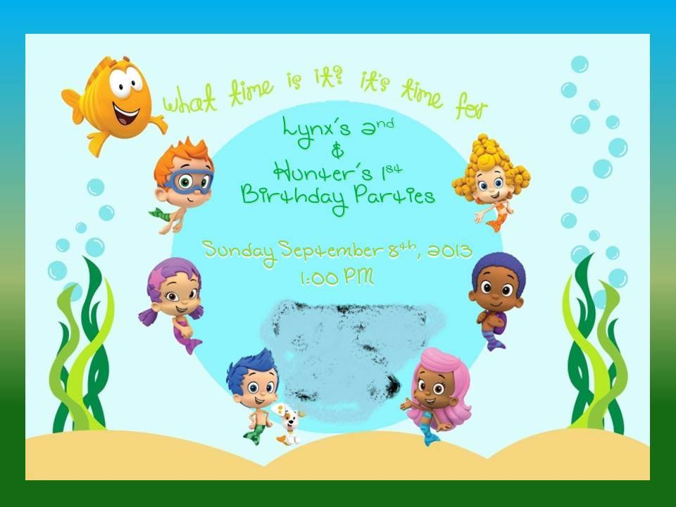 Top bubble guppies invitations background wallpapers - Bubble guppies birthday banner template ...