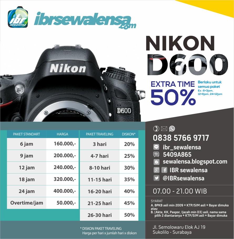 DSLR Nikon D600 Surabaya, Sewa kamera Jakarta, Sewa Kamera Jogja, Rental Kamera,
