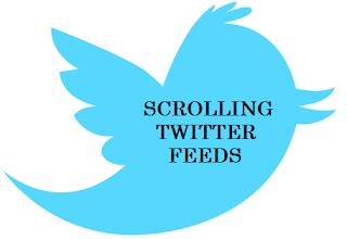 scrolling twitter feed