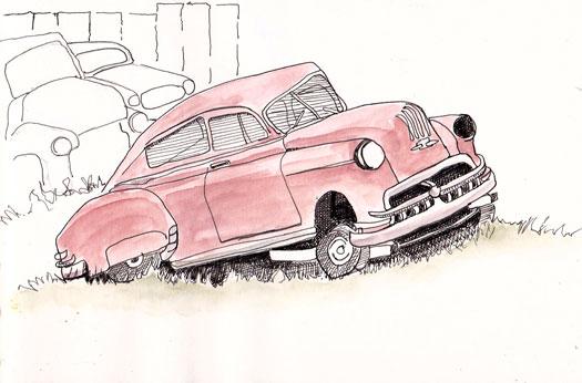 Urban Sketchers Texas Old Car Graveyard