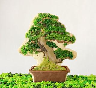 Galletas con forma de Bonsai, Reposteria y Originalidad