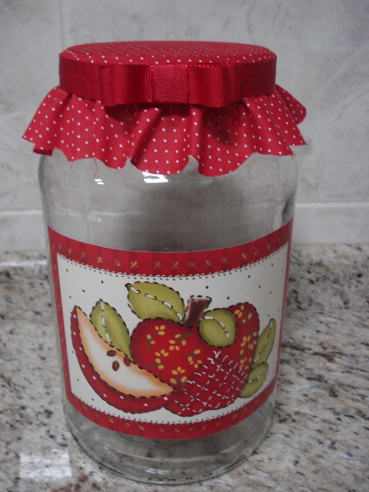 Encontro com a arte Potes de vidro para cozinha