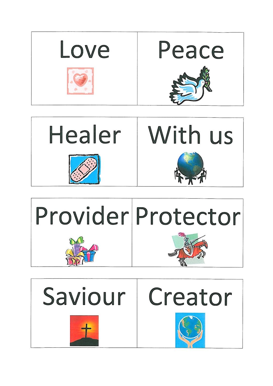 flame creative children u0027s ministry names of god dominoes game